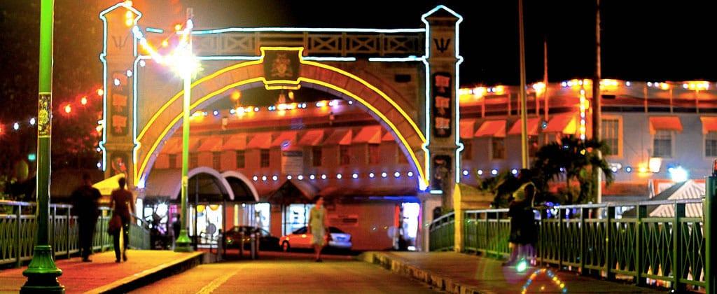 Bridgetown at night