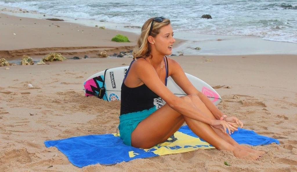 Surfer Chelsea Tuach. (J.Weekes/BGIS)