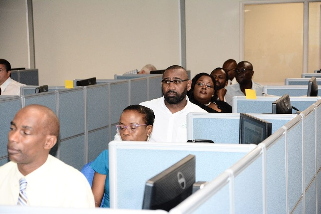 Public sector workers recently undergoing training in the Electronic Single Window. (FP)