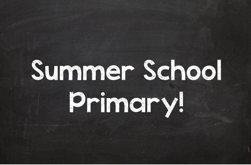 Summer School Primary Starts July 4