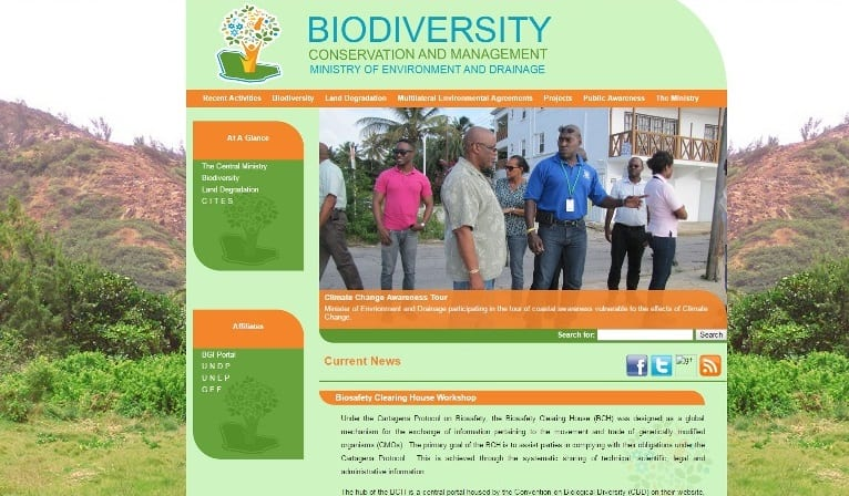 Biodiversity and Sustainable Land Management in Barbados website.