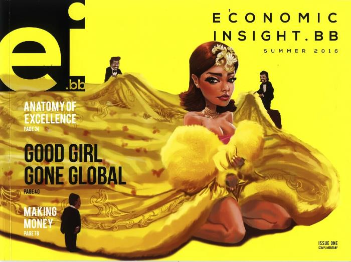 The first cover of the Central Bank's new magazine Economic Insight.bb (EI.bb).