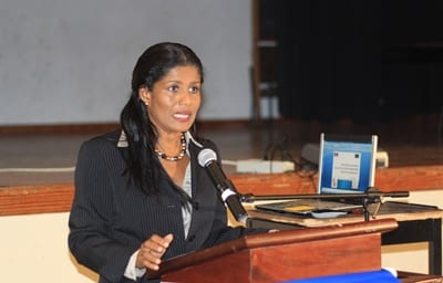 Minister of Labour, Social Security and Human Resource Development, Senator Dr. Esther Byer Suckoo. (FP)
