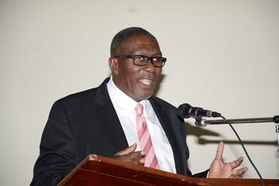 Acting Minister of Education, Senator Harry Husbands. (FP)