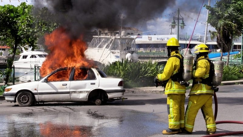 Fire Service Holds Simulation