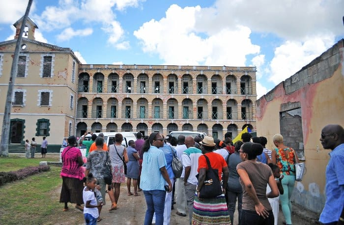 Barbadians in their numbers touring HMP Glendairy Prisons at Station Hill last Saturday. (A.Miller/BGIS)