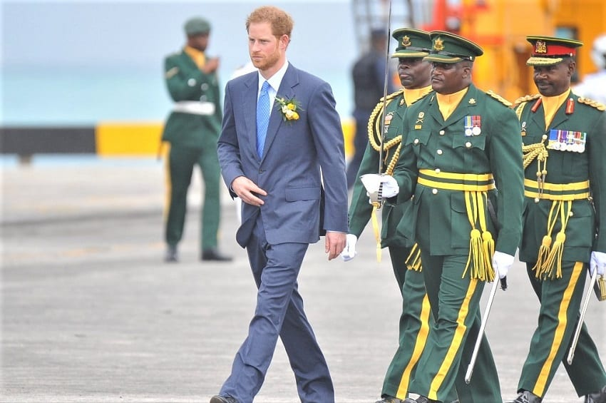 Prince Harry Departs Barbados