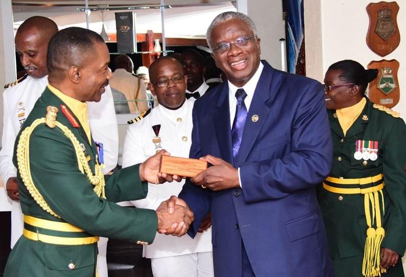 PM Stuart Praises Outgoing BDF Chief