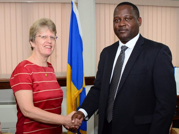 Inniss Holds Talks With British Envoy