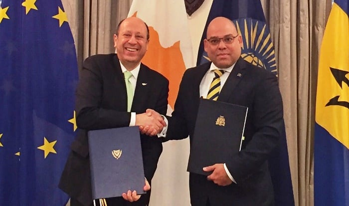 Barbados & Cyprus Sign Agreement