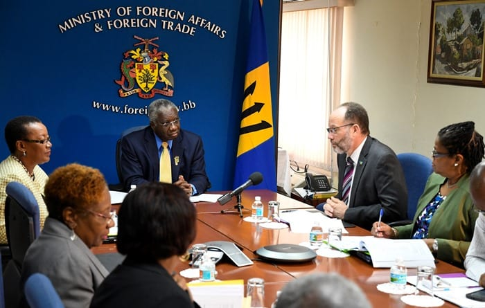 PM Stuart Holds Reparations Discussions