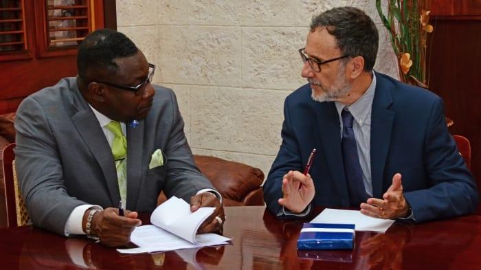 Ag. Foreign Minister Meets Israeli Envoy