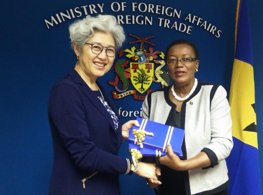 Senator McClean Meets Madame Fu Ying