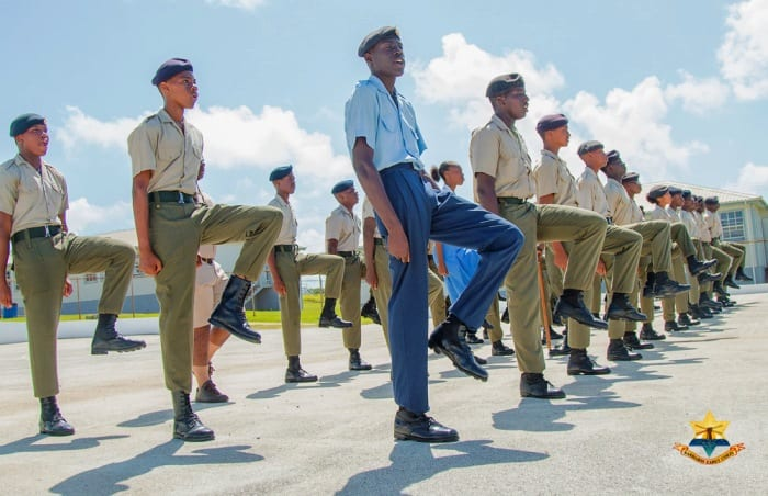 Cadets Attending All Arms Drill Instructor Course