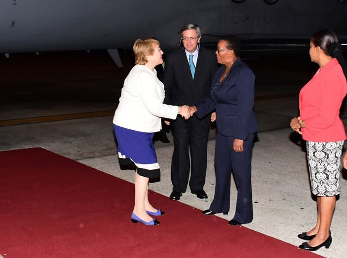 Chile's President Arrives In Barbados