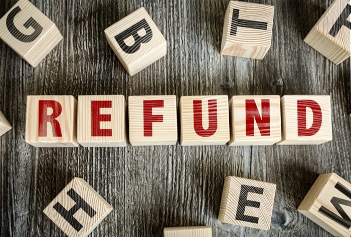 Refund Of Excess Registration Fees