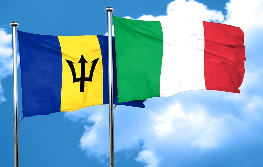 Barbados_with_Italy_flag