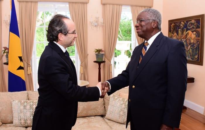 PM Stuart Meets Israeli's Ambassador