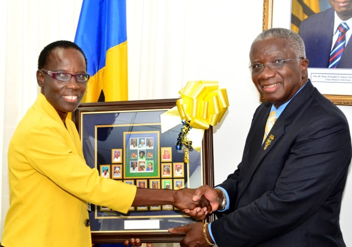 Prime Minister Presented With Stamp Issues