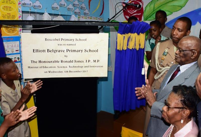 Boscobel Primary Renamed In Honour Of Sir Elliott