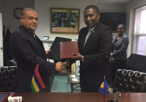 Barbados & Mauritius Sign Protocol To Amend DTA