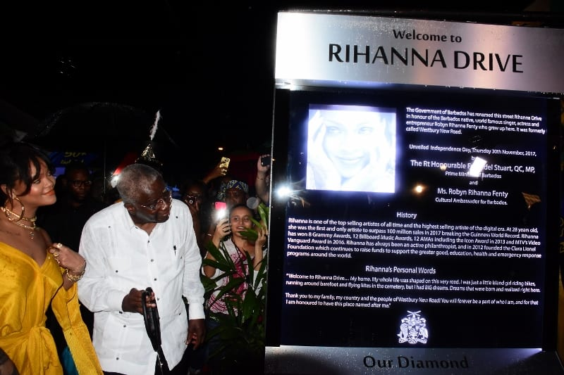 Prime Minister Pays Tribute To Rihanna