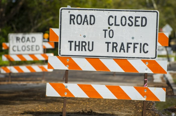 Temporary Closure Of Highway 1