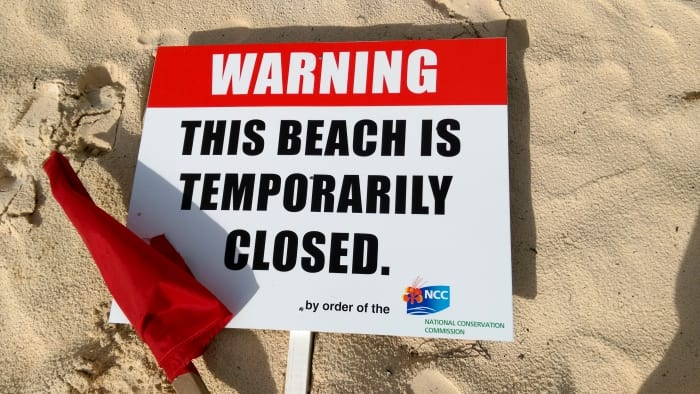 Temporary Closure Of Worthing Beach
