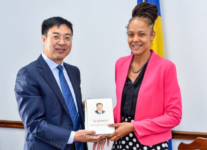 Education Minister Meets With Chinese Envoy