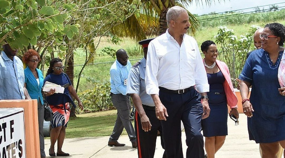 PM Mottley And Former US AG Tour Municipal Complex