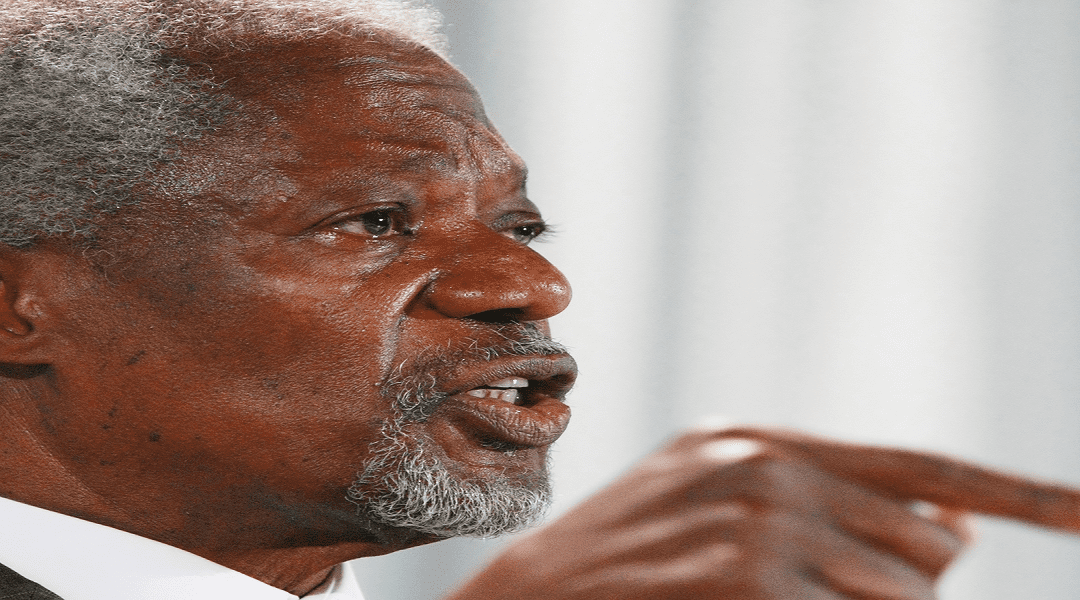 Prime Minister's Statement On Kofi Annan