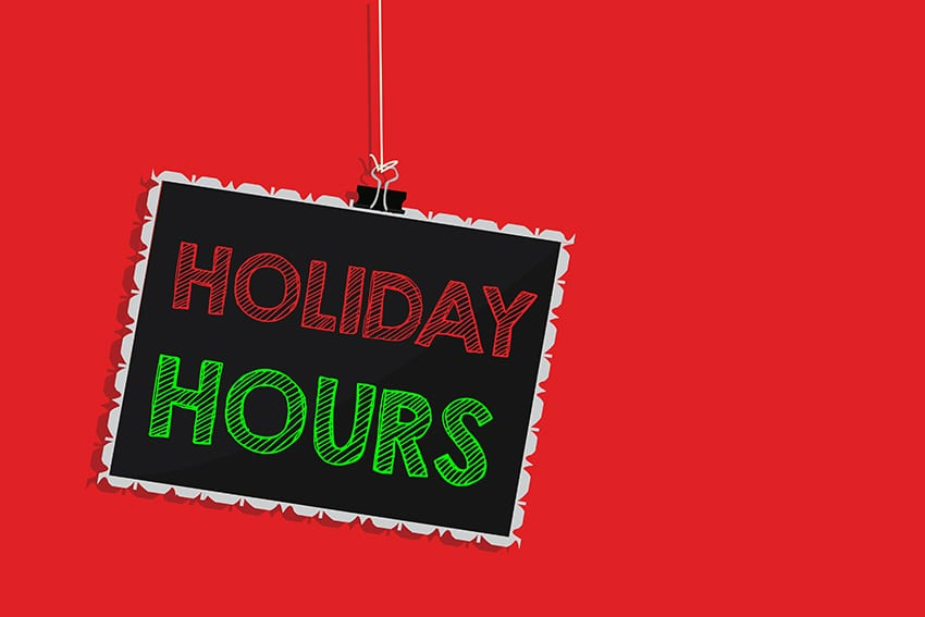 Christmas Hours At National Library Service