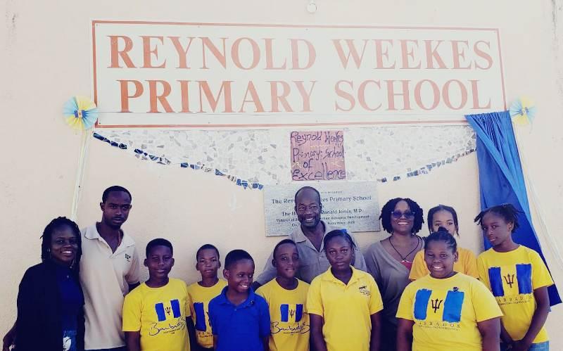 Reynold Weekes Pupils Creating Innovative Art