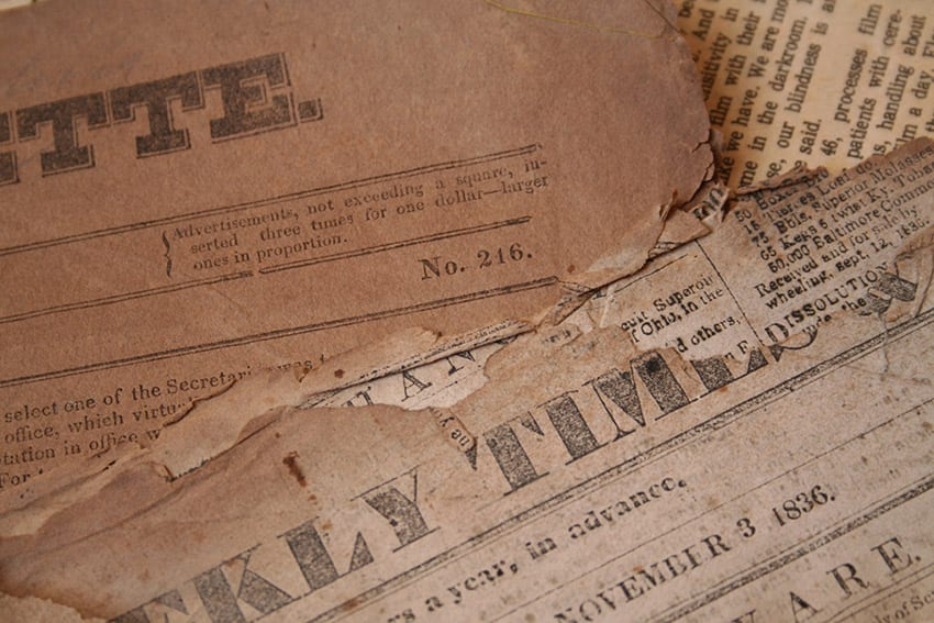 Archives Digitises Two Vintage Newspapers