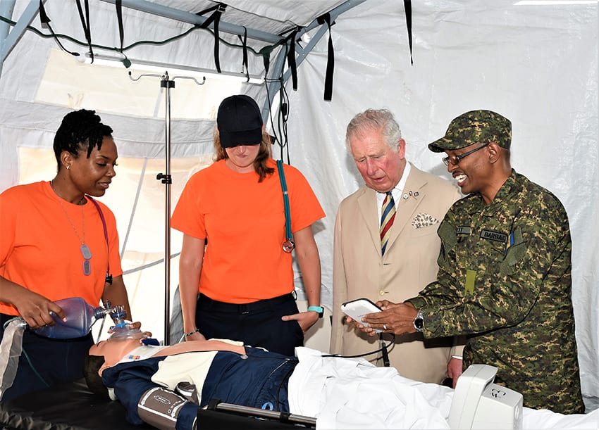 Prince Charles Lauds BDF Field Medical Facility