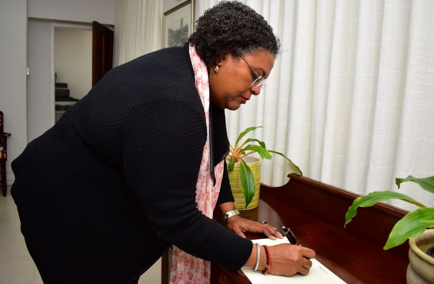 PM Signs Condolence Book For New Zealand