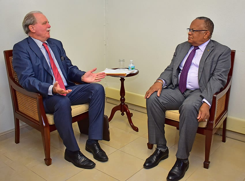 Foreign Minister Bids Farewell To German Envoy