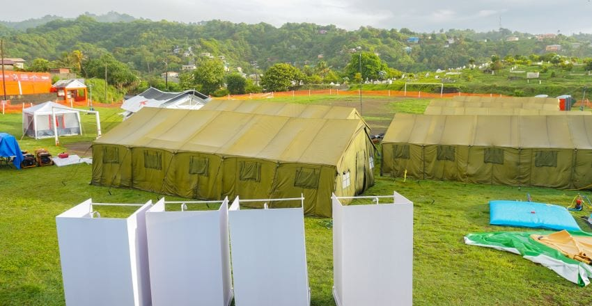 BDF Medical Facility Set Up In St. Vincent