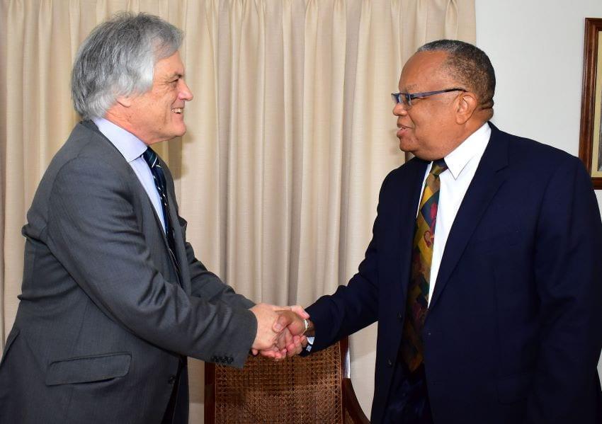 Minister Walcott Bids Farewell To Australian Envoy