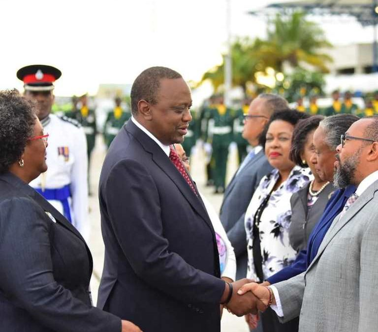 President And First Lady Of Kenya Welcomed To Barbados