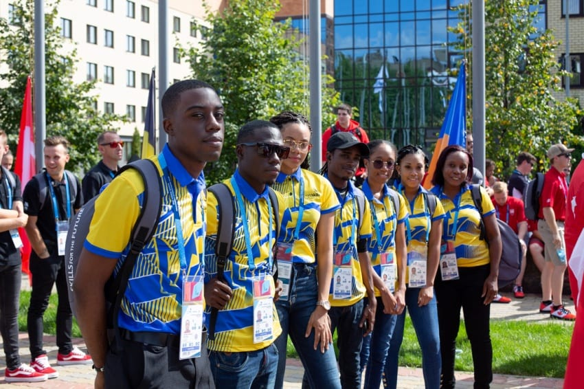 Barbados' Flag Goes Up At WorldSkills