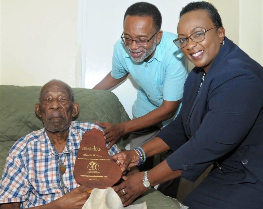 Williams Receives Centenarians Website Award