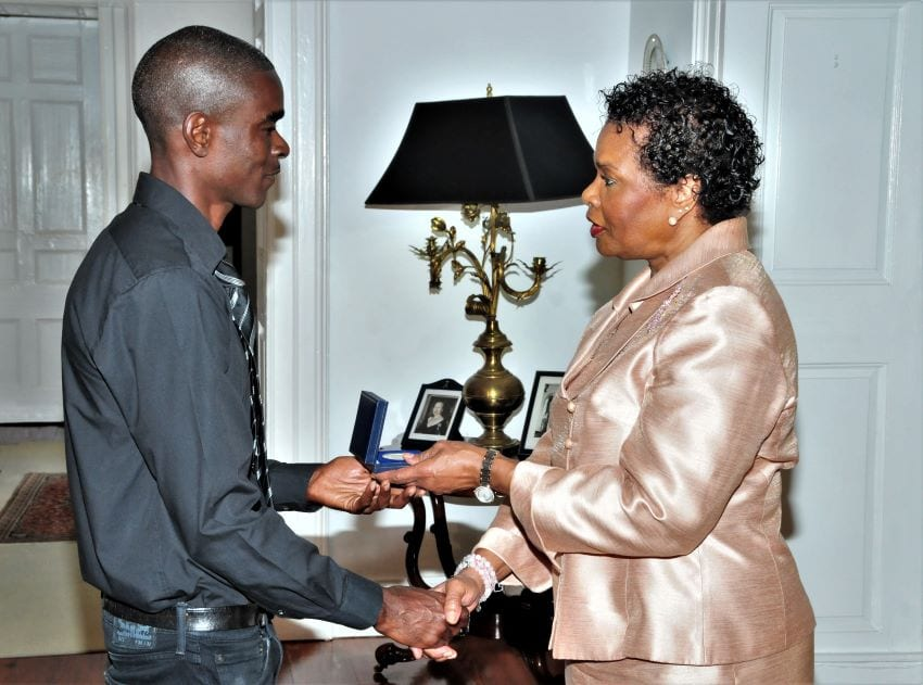 Barbadian Lifeguard Receives Mountbatten Medal