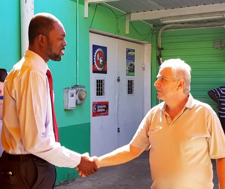 Labour Minister Tours Workplaces In Swan & Tudor Streets
