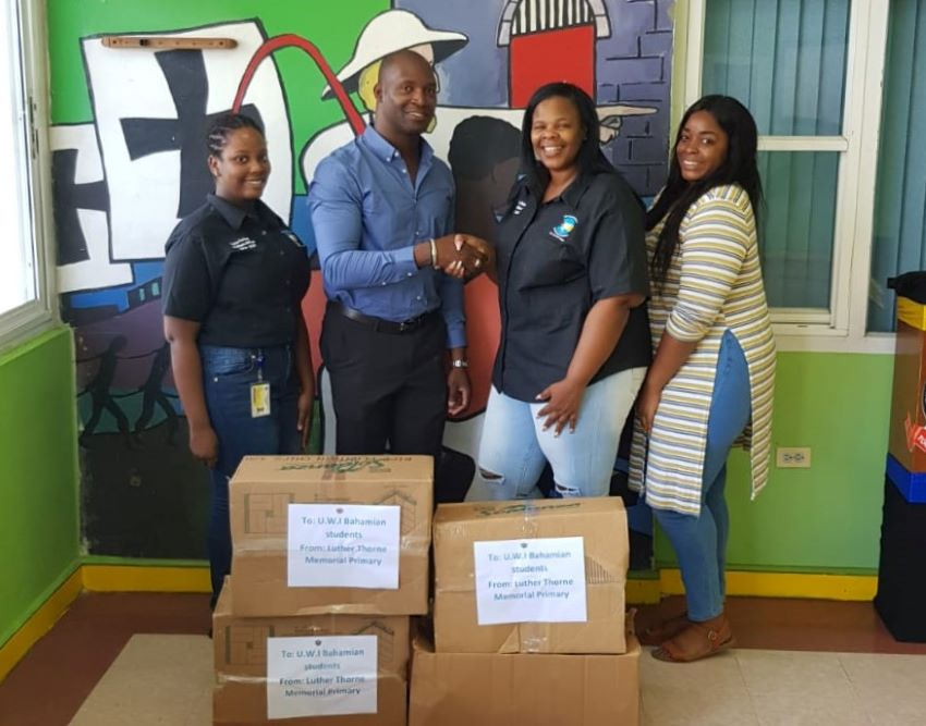 Luther Thorne Donates To Bahamian Students At UWI