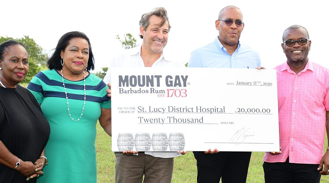 Mount Gay Donates To St. Lucy District Hospital