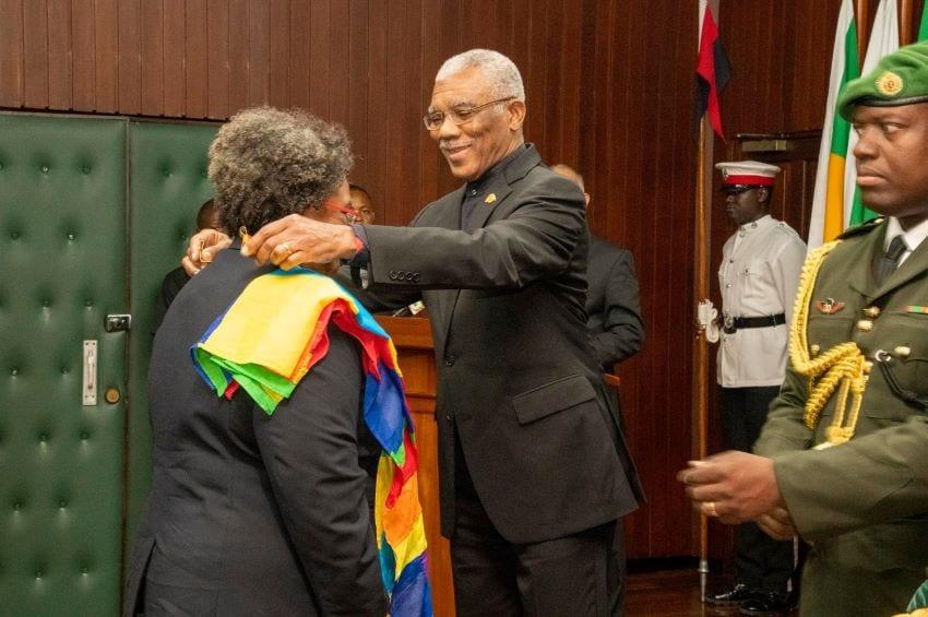 PM Mottley Receives Guyana's National Award
