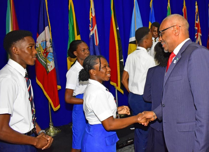 Bahamian Prime Minister Thanks Barbadian Students