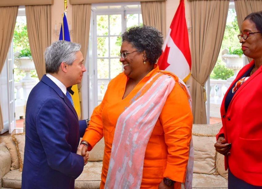Prime Minister Mottley & Canada's Foreign Minister Hold Talks