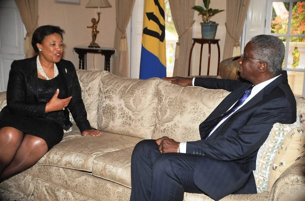 PM Stuart Meets With Baroness Scotland